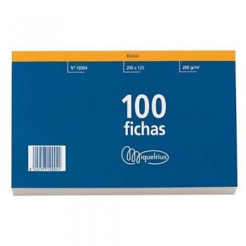 FICHAS 100 X 150  HORIZONTAL CON CABECERA  ROJA MIQUEL RIUS