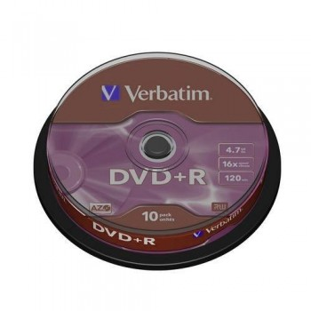 DVD +R 4.7GB 16X BOBINA 10 UNIDADES ADVANCED AZO VERBATIM