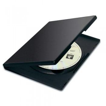 ESTUCHE PARA DVD NEGRA PACK 5 UNIDADES FELLOWES