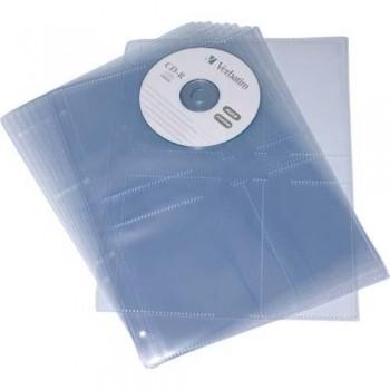 FUNDAS CD DIN A4 PP LISO 110 MICRAS 4 TALADROS BOLSA 10 UNIDADES GRAFOPLAS