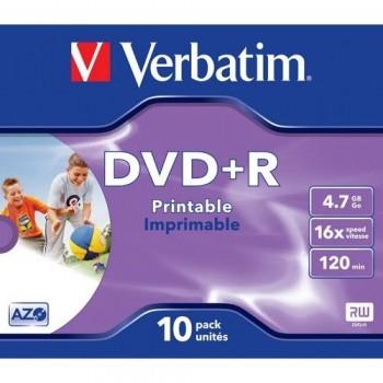 DVD +R 4.7GB 16X CAJA 10 IMPRIMIBLE ADVANCED AZO VERBATIM
