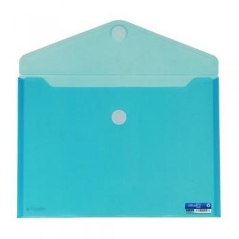 SOBRE A4+ PP CIERRE DE VELCRO 335 X250  MM AZUL OFFICE BOX