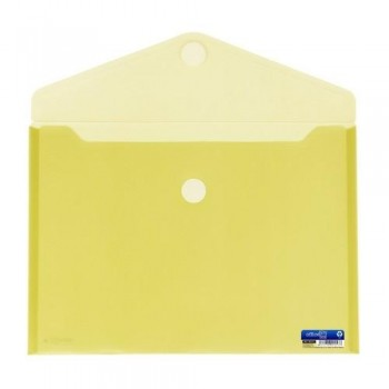 SOBRE A4+ PP CIERRE DE VELCRO 335 X250  MM AMARILLO OFFICE BOX