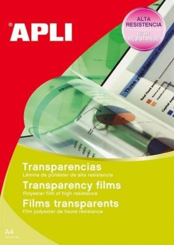 Transparencias para láser A4 caja 100u. APLI