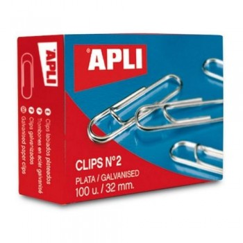 CLIPS PLATEADOS N? 2 32 MM. APLI
