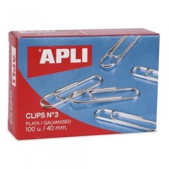 CLIPS PLATEADOS N? 3 40 MM. APLI