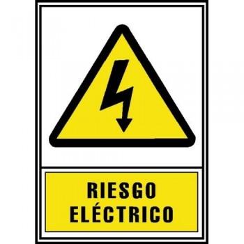 SE?AL PVC NORMALIZADA   RIESGO ELÉCTRICO   210X297 AMARILLO ARCHIVO 2000
