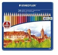 Lápiz Motif Line serie Castillo en estuche de metal de 24 u. colores surtidos.