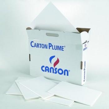 CARTON PLUMA HOJA 100X140 3MM. BLANCO CANSON