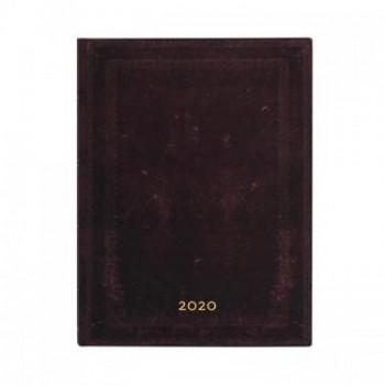 Agenda diseño 2020 anual 12 meses Paperblanks Marruecos Negro Liso Por Dias Flexi Ultra