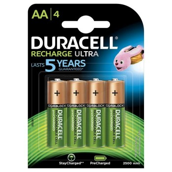 PILAS DURACELL RECARGABLE AA PACK 4