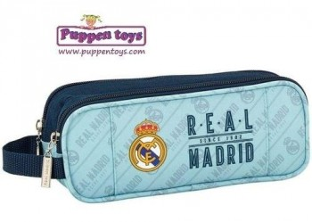 Estuche Portatodo doble Real Madrid SAFTA