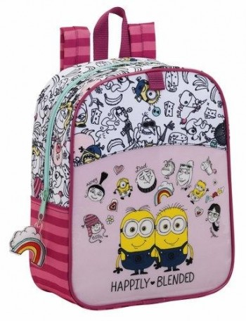 Cartera escolar safta minions girl mochila guarderia adaptable a carro