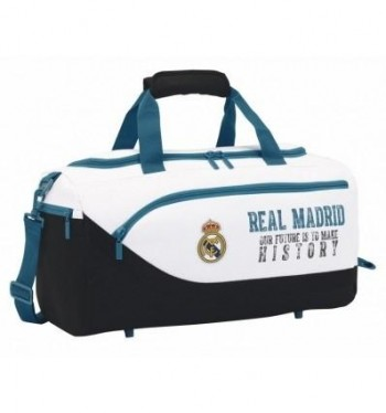 BOLSA DEPORTE REAL MADRID 17/18. MEDIDAS:50X25X25Cm.