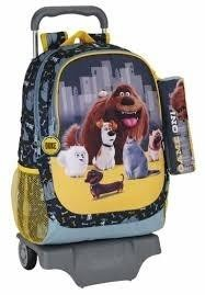Mochila Grande Con Ruedas The Secret Life Of Pets.33x43x15 Cm