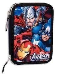 Estuche 2 pisosPlumier Vengadores Avengers Marve..  21x15x5 cm.