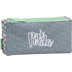 Estuche portatodo 3 bolsillos NEW Privata Party. Medidas (cm): 23x11x5 725064