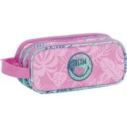 Estuche portatodo triple cuerpo : Smiley Dream MEDIDAS (cm)23X10X8: REF. 573061