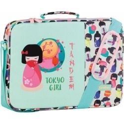 Bolso bandolera Escolar  TOKIO GIRL MEDIDAS EN CM:38X28X6  REF 269148