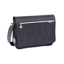 Bandolera colortown Busquets air gris con bolsillo interior y correa gruesa regulable