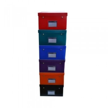 CAJA EASY-UP DELUXE TAMA?O XXL 400X295X170MM PP COLORES SURTIDOS OFFICE BOX