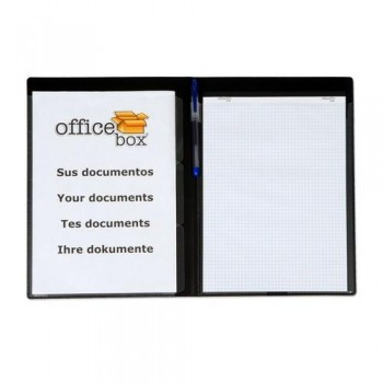 CARPETA CONGRESOS CON 3 SEP.  A4+ 3 DIVISIONES PERSONALIZABLE NEGRO OFFICE BOX.