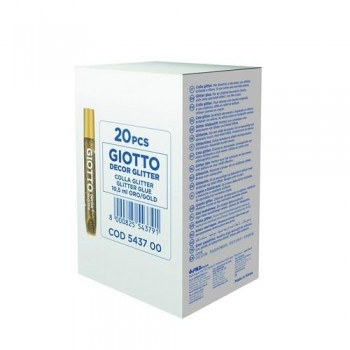 PEGAMENTO PURPURINA 10,5 ML. COLOR ORO GIOTTO GLITTER GLUE