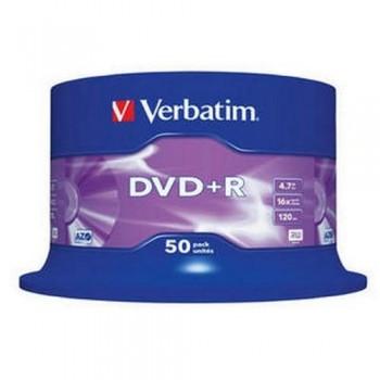 DVD +R 4.7GB 16X BOBINA 50 UNIDADES ADVANCED AZO VERBATIM
