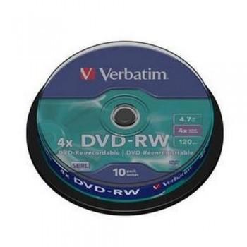 DVD -RW 4.7GB 4X BOBINA 10 UNIDADES ADVANCED AZO VERBATIM