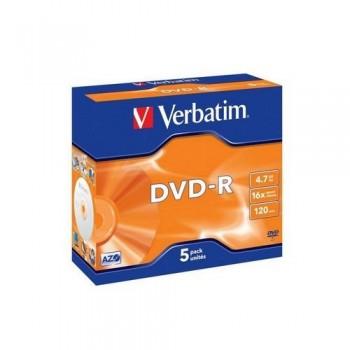 DVD -R 4.7GB 16X 5 UNIDADES ADVANCED AZO VERBATIM