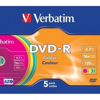 DVD -R 4.7GB 16X SLIM 5 ADVANCED AZO NO IMPRIMIBLE VERBATIM