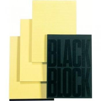 BLOC NOTAS A4 70 HOJAS AMARILLAS CUADRÍCULA 5X5 BLACK BLOCK EXACOMPTA