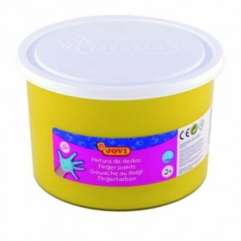 PINTURA DEDOS BOTE 500 ML. COLOR AMARILLO JOVI