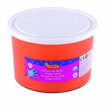PINTURA DEDOS BOTE 500 ML. COLOR NARANJA JOVI