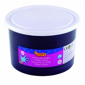 PINTURA DEDOS BOTE 500 ML. COLOR NEGRO JOVI