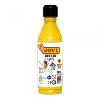 PINTURA MULTISUPERFICIE BOTELLA 250 ML. COLOR AMARILLO JOVIDECOR