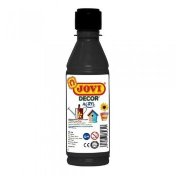 PINTURA MULTISUPERFICIE BOTELLA 250 ML. COLOR NEGRO JOVIDECOR