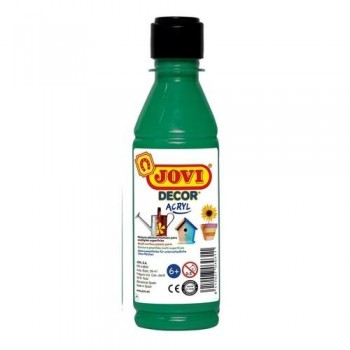 PINTURA MULTISUPERFICIE BOTELLA 250 ML. COLOR VERDE OSCURO JOVIDECOR