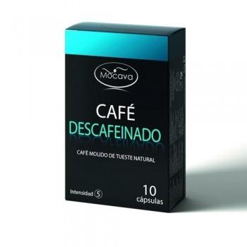 CÁPSULAS COMPATIBLES CAFÉ DESCAFEINADO 10 UN. MOCAVA