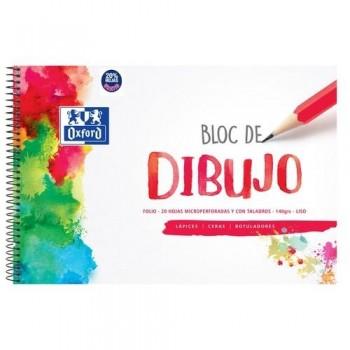 BLOC DIBUJO FOLIO 140 GR. SIN RECUADRO 20 HOJAS TAPA DURA OXFORD