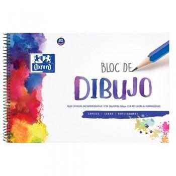 BLOC DIBUJO FOLIO 140 GR. CON RECUADRO A4 20 HOJAS TAPA DURA OXFORD