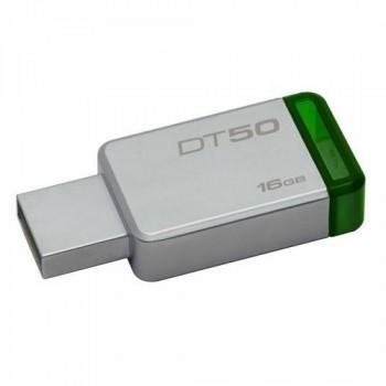 MEMORIA USB 16GB 3,0 CARCASA METÁLICA VERDE KINGSTON DATATRAVELER
