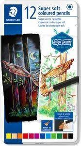 Lápices colores Super Soft 149C Staedtler Design Journey est. Metal 12u