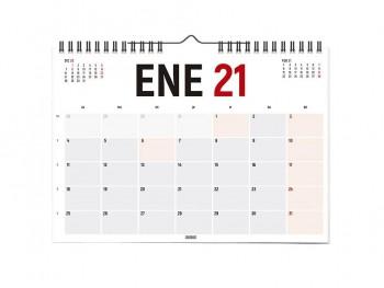Calendario Horizontal 42x30 castellano 2021