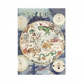 Agenda diseño 2020 anual 12 meses Paperblanks Planisferio Celeste